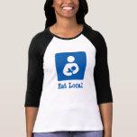 Eat Local Breastfeeding / Nursing Icon T-shirts