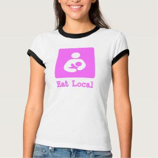 Eat Local Breastfeeding / Nursing Icon Tee Shirts