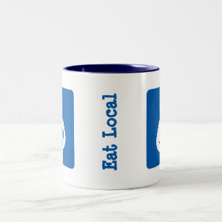 Eat Local Breastfeeding / Nursing Icon Two-Tone Coffee Mug