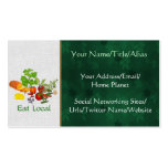 Eat Local Double-Sided Standard Business Cards (Pack Of 100)