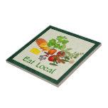 Eat Local Ceramic Tiles