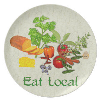 Eat Local Dinner Plate