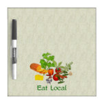 Eat Local Dry Erase Whiteboard