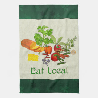 Eat Local Hand Towels