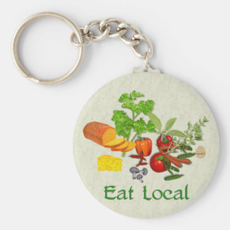 Eat Local Keychain