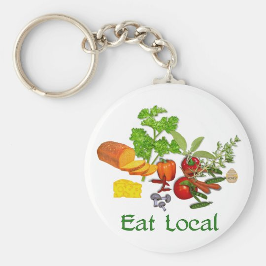 Eat Local Keychain