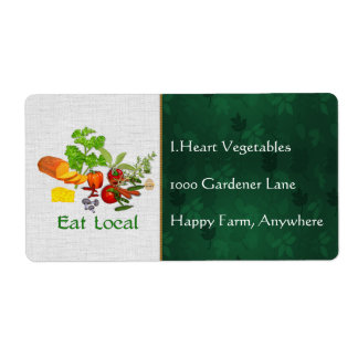 Eat Local Shipping Label