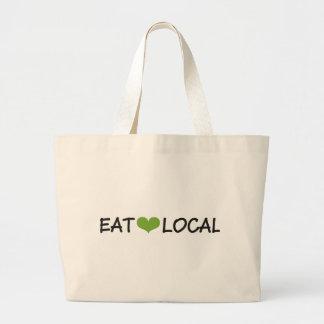 Eat Local Large Tote Bag