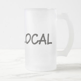 Eat Local 16 Oz Frosted Glass Beer Mug