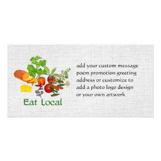 Eat Local Customized Photo Card