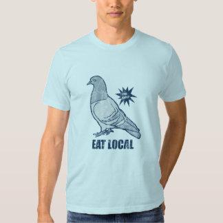 Eat Local, pigeon tee shirt