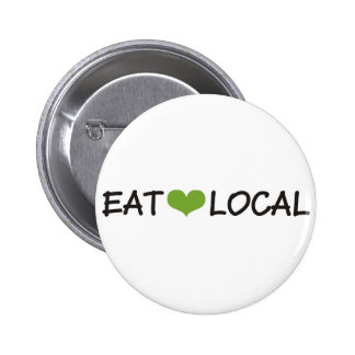 Eat Local Pinback Button