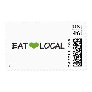 Eat Local Postage Stamp