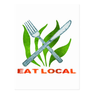 Eat Local Post Card