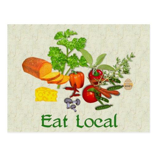 Eat Local Postcard