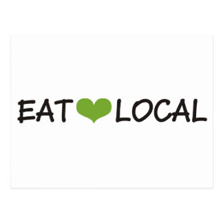 Eat Local Postcard