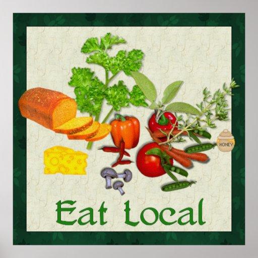 Eat Local Print