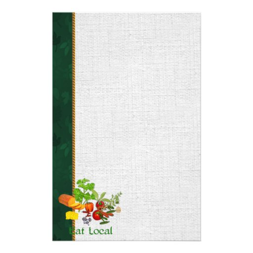 Eat Local Stationery Paper