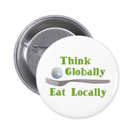 Eat Locally 2 Inch Round Button