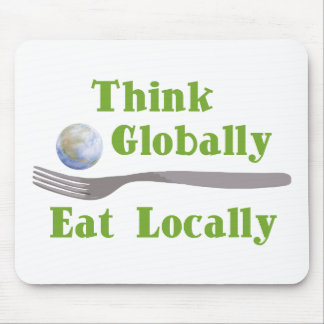 Eat Locally Mouse Mat