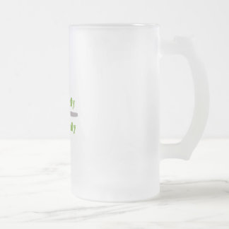 Eat Locally 16 Oz Frosted Glass Beer Mug