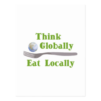 Eat Locally Postcard