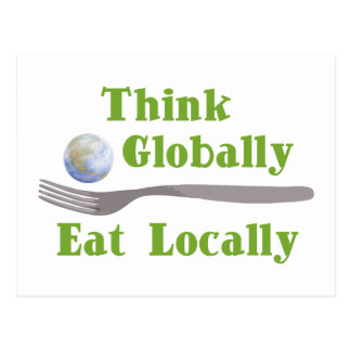 Eat Locally Post Card
