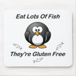 Eat Lots Of Fish, They're Gluten Free Mouse Pad