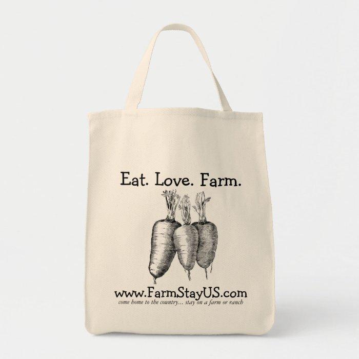 Eat Love Farm Grocery Tote Bag