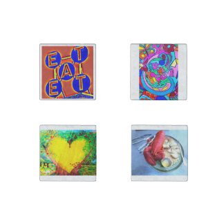 eat love heart lobster marble magnets stone magnet