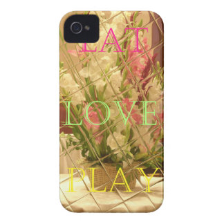 Eat Love Play Flowers for all beautiful seasonal o iPhone 4 Cover