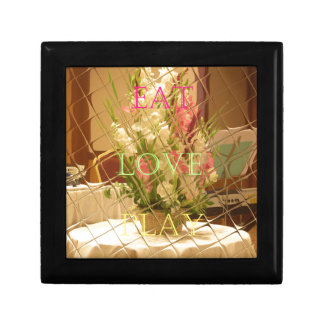 Eat Love Play Flowers for all beautiful seasonal o Jewelry Box