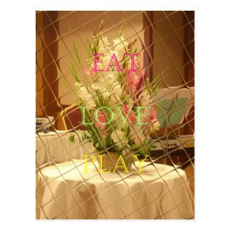 Eat Love Play Flowers for all beautiful seasonal o Postcard