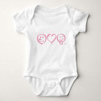 eat love pray baby creeper - pink