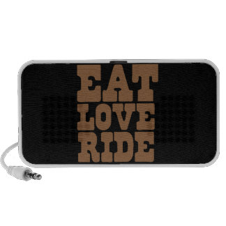 EAT LOVE RIDE Horse riding funny Travelling Speakers