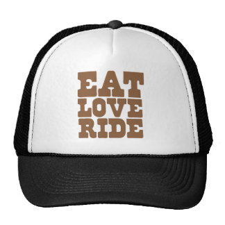EAT LOVE RIDE Horse riding funny Trucker Hat