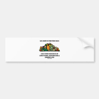 Eat Lower On The Food Chain (Vegetables) Bumper Stickers