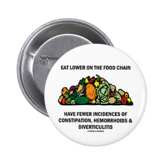 Eat Lower On The Food Chain (Vegetables) Pinback Buttons