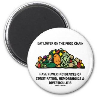 Eat Lower On The Food Chain (Vegetables) Fridge Magnet