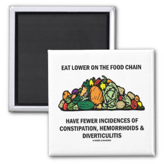 Eat Lower On The Food Chain (Vegetables) Magnet