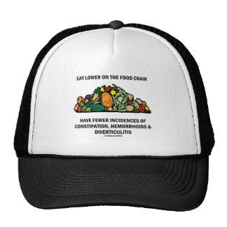 Eat Lower On The Food Chain (Vegetables) Mesh Hat