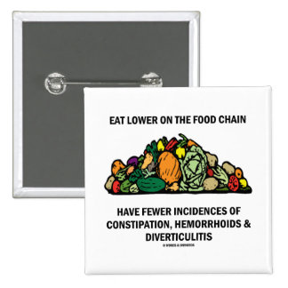 Eat Lower On The Food Chain (Vegetables) Pin