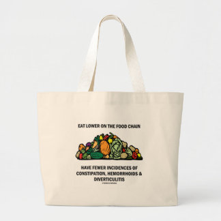 Eat Lower On The Food Chain (Vegetables) Tote Bags