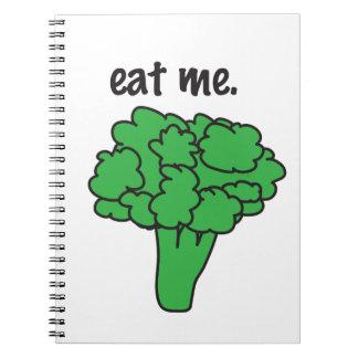 eat me. (broccoli) notebook