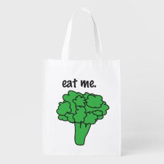 eat me. (broccoli) reusable grocery bag