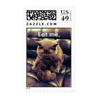 Eat Me Cat Stamp