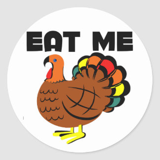 Eat me classic round sticker