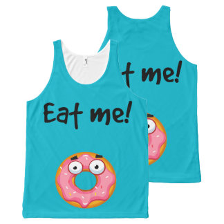 Eat me! Donut All-Over Print Tank Top