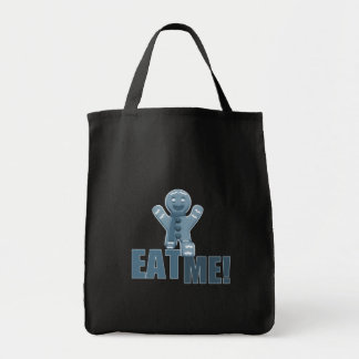 EAT ME! Gingerbread Man - Blue Canvas Bag