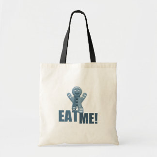 EAT ME! Gingerbread Man - Blue Tote Bags